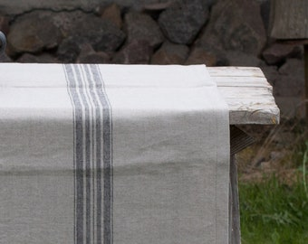 Linen table runner, Rustic runner made from organic, heavy weight, stone washed pure line fabric, farmhouse decor, farmhouse decor kitchen
