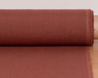 LINEN FABRIC medium weight Brick Red washed pure 100% linen linen fabric Linen fabric by the metre Fashion fabric