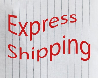 EXPRESS Shipping Service.  With world famous courier companies  DHL, TNT, FedEx This services are from door to door.