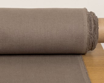 Pure linen fabric last piece 2.18 yards / 2 m width Brown linen fabric heavy weight, width 1.8 yard / 1. 7 m  Rustic fabric