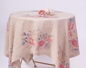 LINEN TABLECLOTH Rectangle, Square Tablecloth, Tablecloth Wedding, Rustic Tablecloth, Organic Tablecloth