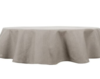 100 % LINEN TABLECLOTH ROUND (Oval) Tablecloth Wedding,  Kitchen Decor,Paschal Tablecloth, Easter Decor