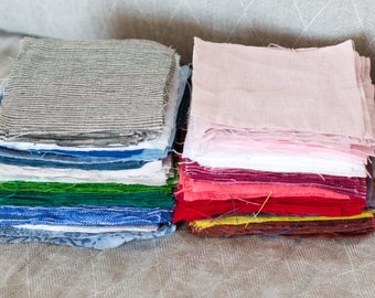 LINEN FABRIC SAMPLES. Extra wide linen fabrics samples.
