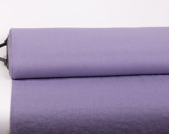 Pure 100% Linen Fabric Lavender Medium Weight Pre-Washed Durable Dense Plain Solid Organic Textile Drape For Sewing Table Cloth By Yard