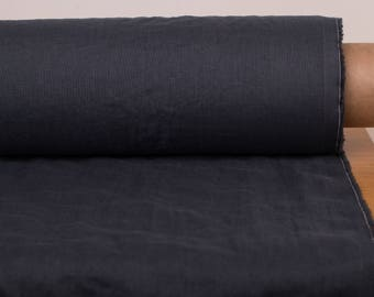 Linen fabric 135gsm Dark gray Graphite gray washed pure 100% linen fabric