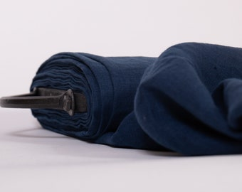 Pure 100% Linen Fabric 135gsmLightweight Dark Blue Pre-washed linen fabric Linen fabric for blouses by the yards by the meters