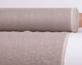 Linen fabric Not Dyed 135gsm lightweight Pre-shrunk, softened,  Eco Natural Flax linen by yard Organic linen fabric  Ready to Ship