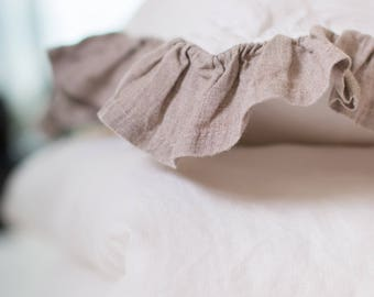 Last piece Baby linen duvet cover and Baby linen pillowcase. Washed  100 % linen.
