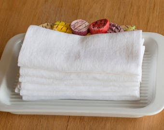 Linen napkins set of 6, Washed handmade linen napkins
