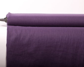 Pure 100% Linen Fabric Purple Medium Weight Pre-Washed Durable Dense Plain Solid Organic Textile Drape For Sewing Table Cloth By Yard