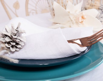 Pure Linen Napkins Handmade Washed Softened New Year's Eve Gift for Christmas For table decoration