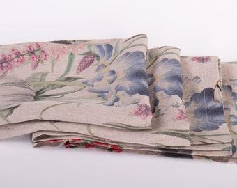 Linen Napkins Digital Printed ENAMOR, Mitered Corner Napkins, Napkins For Wedding, Table Decoration,  Handcrafted in Europe
