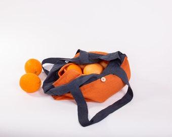 Natural Market Tote, Linen Tote Bag, Shoulder Bag, Linen Tote, Linen Shopping Bag, French Linen Bag, Market Bag, Washed Linen Tote
