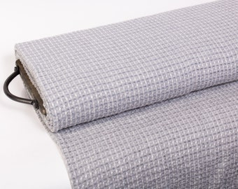 Pure linen fabric 200gsm  Gray and white diamond pattern. Medium weight, soft, fluffy, gentle, washed and softened with organic softeners