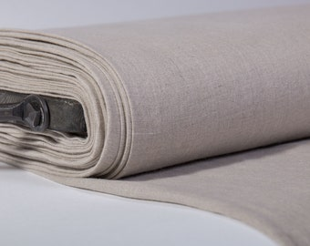Extra Wide 2.35 m / 2.56 yd pure 100% Linen Fabric, medium weight, washed softened, environmentally friendly, antibacterial, anti-fungal