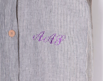 Initial Monogram Embroidery Custom Monogram Embroidery Personalized Floral Initial