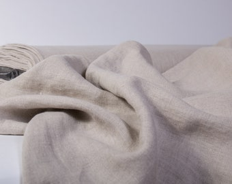 Linen fabric 200gsm non-dyed, wash and soften with organic softeners. Standard linen cloth usually for clothing ,