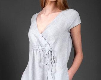 LINEN DRESS Casual Linen Dresses, Midi linen dress, Linen summer dress, Linen beach dress, Loose-fitting linen dress