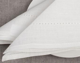 100 % LINEN NAPKINS SET 6  Off-white  Light grey  Yellowish grey Rustic linen napkins  Wedding napkins  Medium-weigh linen napkins