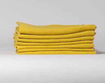 Linen napkins set of 6, Washed handmade linen napkins