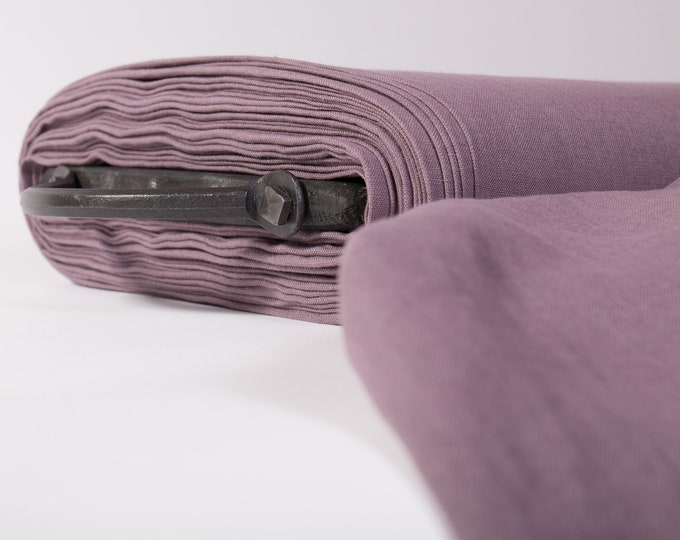 Featured listing image: Pure 100% linen fabric Dirty violet color. Natural linen fabric 200 gsm, medium weight, washed, softened. Organic fabric for clothes
