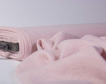 Pure 100% linen fabric 135gsm Dirty pink, Ash Rose lightweight washed