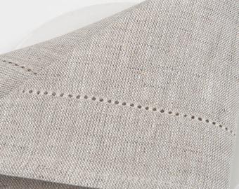 100 % LINEN NAPKINS  SET 6 | Yellowish grey |  Off-white | Light grey | Medium-weigh linen napkins | Rustic linen napkins | Wedding napkins