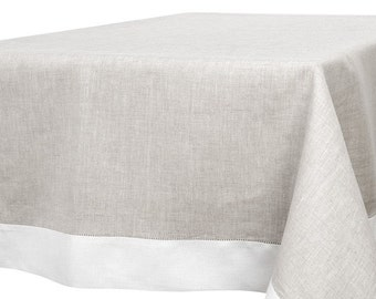 LINEN TABLECLOTH Rectangle, Square Tablecloth, Tablecloth Wedding, White Tablecloth