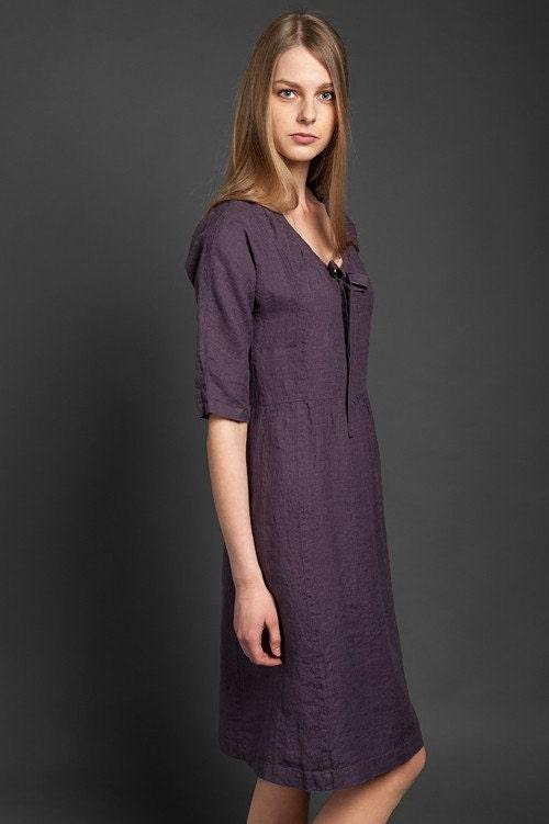Linen Dress Casual Linen Dresses For Women Midi Dress Linen