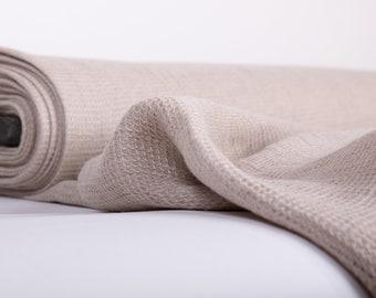 Waffle linen fabric