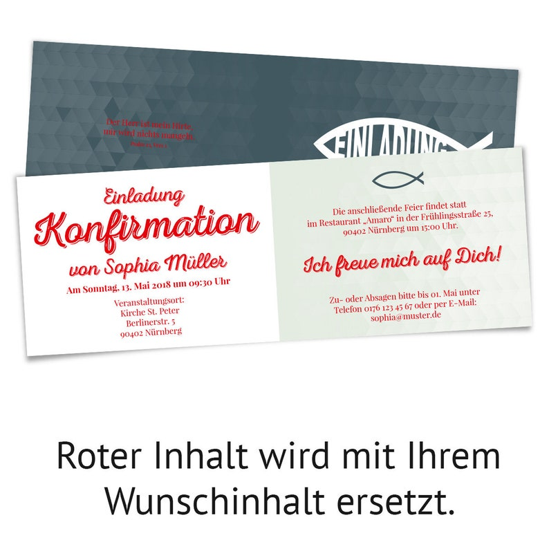 Confirmation Invitation Cards Confirmation Cards Invitations-Modern Jesus Fish Personalized Individually