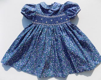 706ffae72 liberty dress girl,smock dress,smocked dress for girl /hand smocked dress /girls