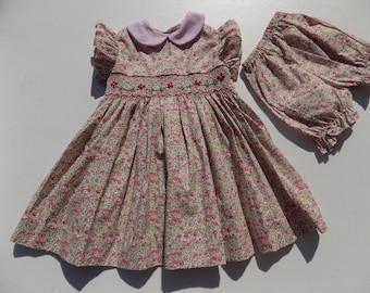 a1ae998637685 vêtements fillebébé robe liberty imprimée par breizhmadcreation