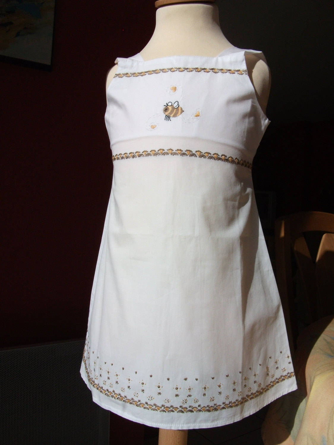4219c44f4 Cotton white embroidered dress
