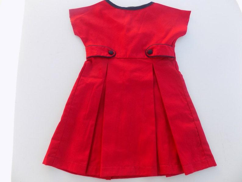 6ff2b4096 Christmas dress baby girl Navy Blue red cotton dress