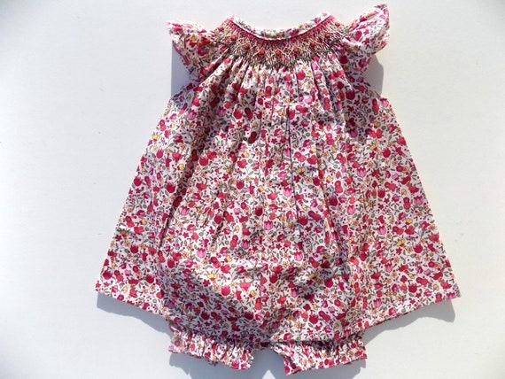 7621fc64609b Baby girl dress flower red dress smocked dress dress and