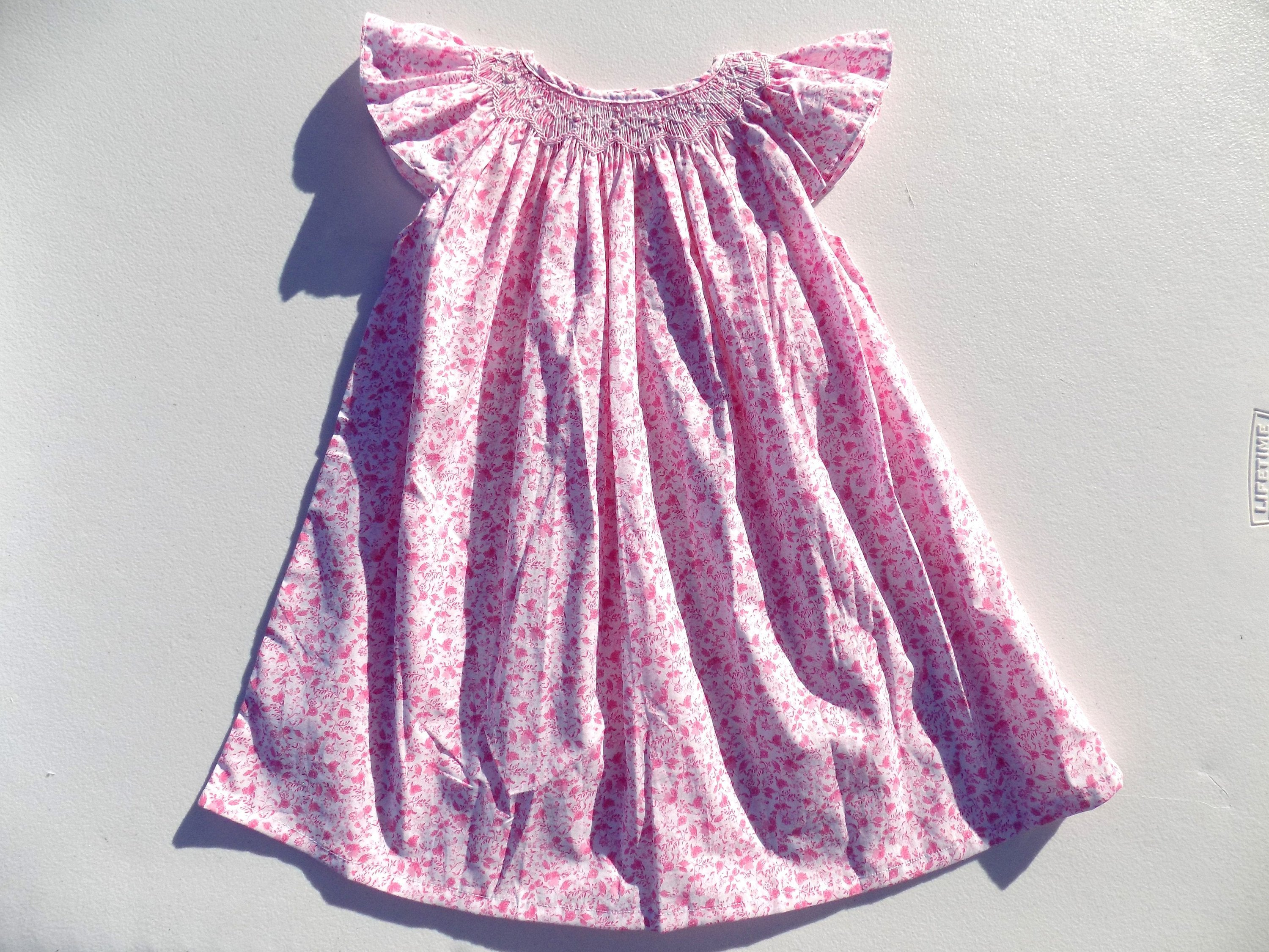 1 Year Birthday Girl Gift Dress Flower Baby 6 9 Months 12 18 Pink A Bloomers Christmas
