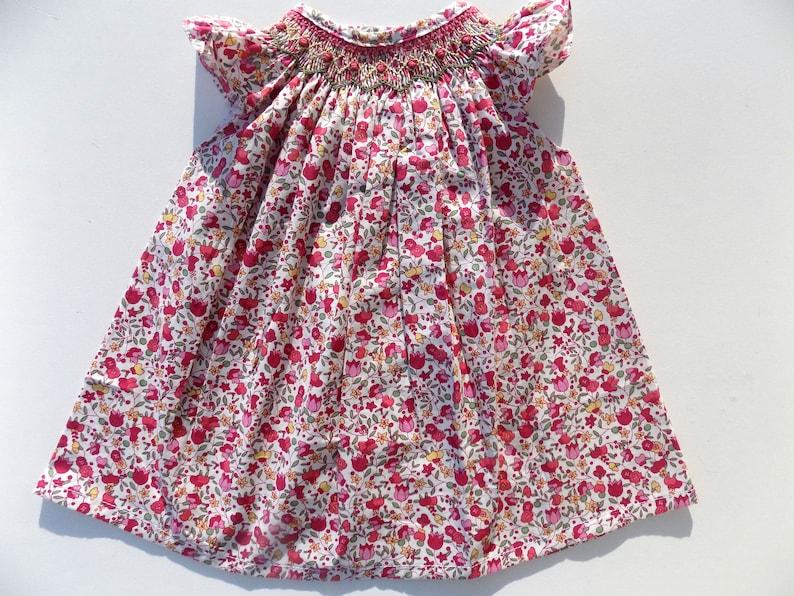 d46d9c6e3102d Robe bébé fillerobe à fleurcotonrougerobe smockéerobe et
