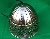 Hammered Mediterranean Iron Ceiling Lamp Nickel H 45 cm approx. ZA-1324