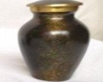 Handmade Pet Urn Brass Gun Paint 4.5x4.5x7 cm Weight Weight 0.165 kg ZAITC-1024