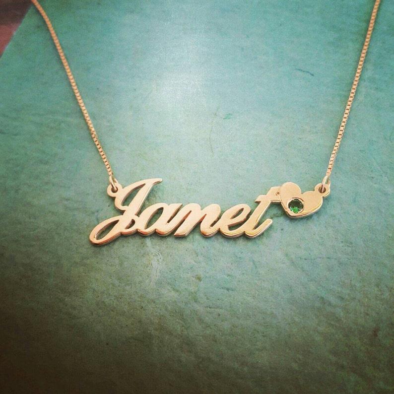 5bce87f30cd8 14k collar de oro nombre o pedido cualquier nombre Janet