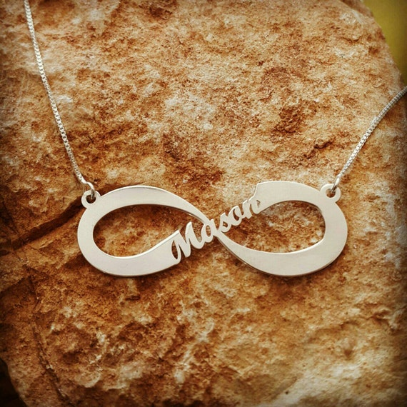 Infinity Name Necklace Forever Symbol Any Name Necklace