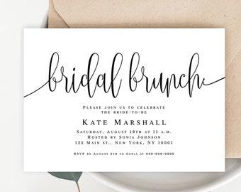 Editable bridal shower invitation Bridesmaid brunch invitation Bride invitation template pdf Bridal brunch invitation instant download pdf