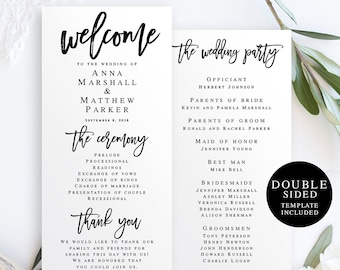 rustic wedding programs etsy