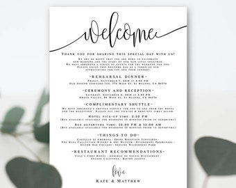 Wedding itinerary instant download Template wedding itinerary Editable wedding itinerary Boho wedding Itinerary template printable DIY #vm41