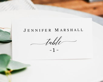photo relating to Printable Wedding Place Cards known as Marriage destination card Etsy