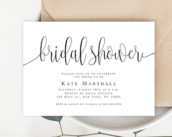 Bridal Shower Invitation Template Etsy