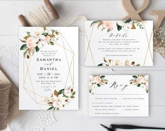 Ivory Wedding Invite Etsy