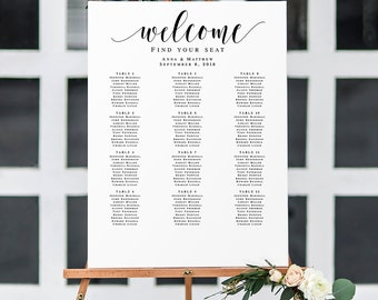 wedding seating chart template welcome seating chart poster seating chart sign seating chart download wedding seating chart printable vm31