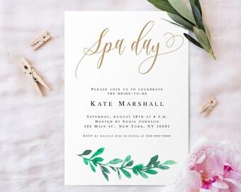 Spa Day Invite